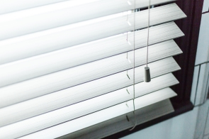 Venetian blinds are perfect for bathrooms - they are resistant to steam and let in lots of light while maintaining privacy
