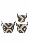 Set of 3 graphic baskets by House Doctor DK £49.00 - AtNo67 Concept Store