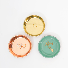 These lovely mini platters come in brass, copper or mint and are great for keeping bits and bobs - Att Pynta