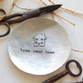 'Home Sweet Home' pewter trinket dish - Iapetus
