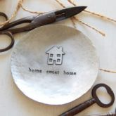 'Home Sweet Home' pewter trinket dish - Iapetus