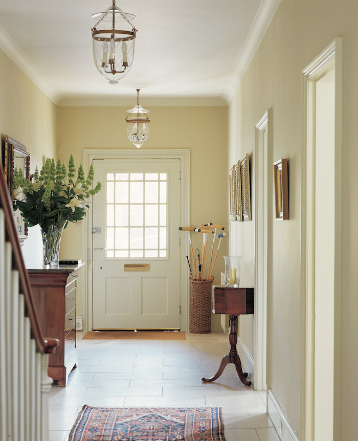 Light and airy hallway - from Farrow & Ball