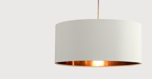 Hue pendant shade in white clay and copper £29.00 - Made.com