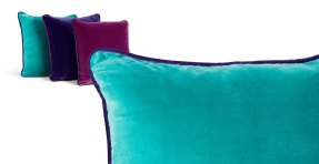 Mya velvet cushion in turquoise £35.00 - Made.com