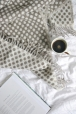 Grey spotty reversible lambswool throw £58.00 - The British Blanket Company