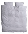 Cotton chambray duvet set in light grey £39.99 - H&M Home