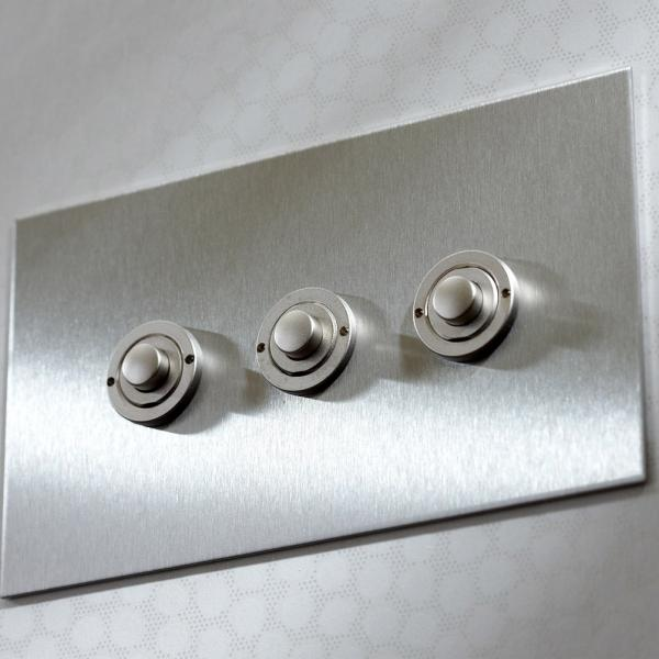 Forbes & Lomax button dimmer controller in stainless steel