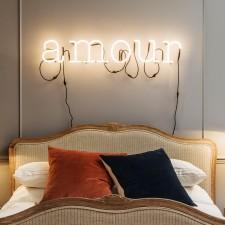 WORDS- 'Amour' neon art light, £292.25 from Graham & Green