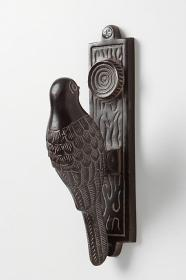 Anthropologie woodpecker door knocker