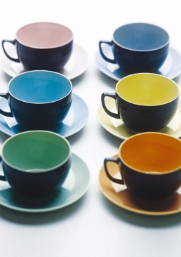 Branksome China Breakfast cups and saucers in jet black £29.00