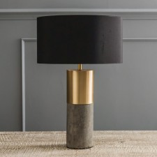 CLASSIC – Concrete & brass lamp, £115.00 by Graham & Green