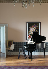 Main wall: Farrow & Ball Pink Ground® No.202 Estate® Emulsion