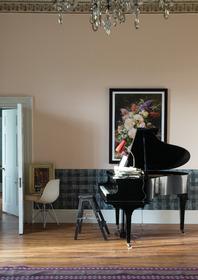 Main wall: Farrow & Ball Pink Ground® No.202 Estate® Emulsion