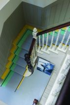 Stair colours: Babouche, Mahogany and Arsenic. All Farrow & Ball.