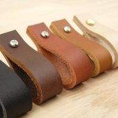 Leather drawer pulls by Bengjy Minu on Etsy