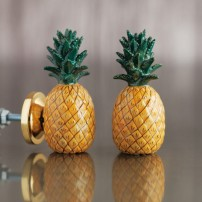 Graham & Green pineapple ceramic knob