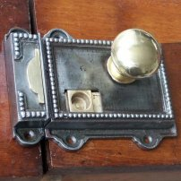 Willow & Stone Regency style cast iron rim latch