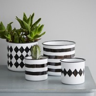Black and White Enamel Pot from rigby & mac