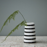 Black and White Stripe Vase by House Doctor from rigby & mac