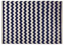 Lombard handwoven rug in midnight chevron, £199.00 from Swoon Editions.