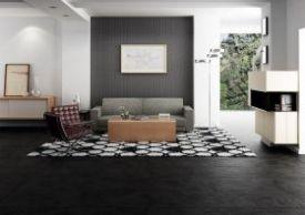 Jaspe black floor tile - £16.98 per sqm from Tile Mountain