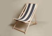 Plum and Ashby deck chair - grey stripe, £85.00 from Black by Design Ltd