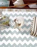 Chevron light blue indoor/outdoor rug, from £55.00 from Dash & Albert