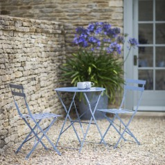 Bistro set in blue, £115.00 from Grace & Glory