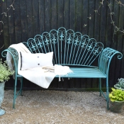 The Peacock garden bench, £298.00 from MiaFleur