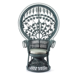 Blue Rattan Peacock chair, £545.00 from PUJI