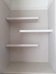 A trio of floating shelves!