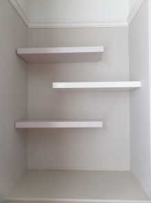 A trio of floating shelves!