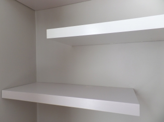 DIY alcove shelves