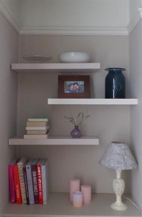 Bespoke painted shelves