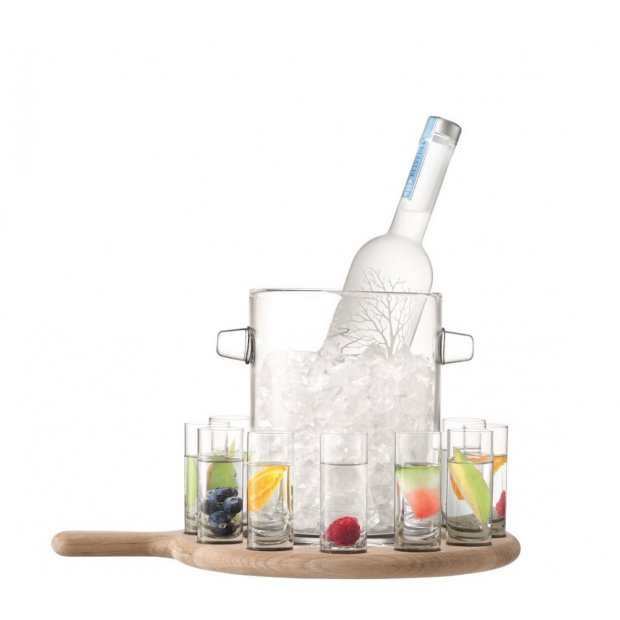 LSA paddle vodka serving set from Black by Design Ltd