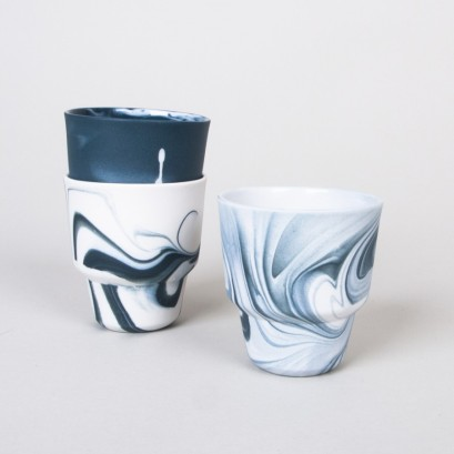 Black marbled espresso cups, £15.00 each