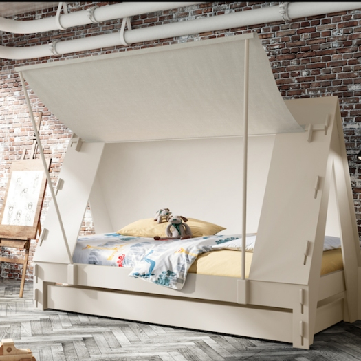 Idyll Home - Children's tent bed in cream
