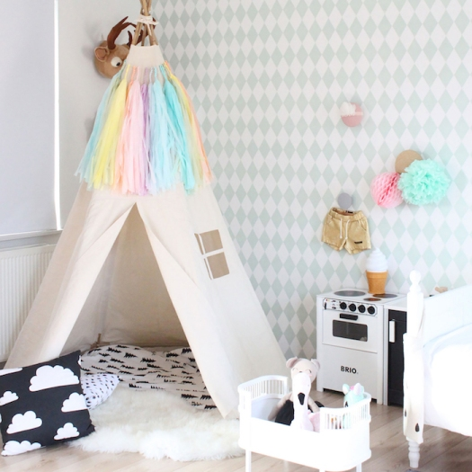 BIG teepee tent without poles by Moozle on Etsy