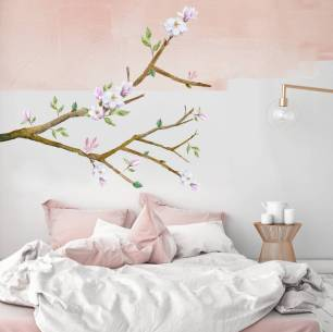 Magnolia watercolour branch wall sticker by Oakdene Designs, £30.00 on Notonthehighstreet.com