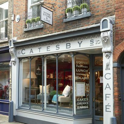Catesby's home store and cafe located on the picturesque Green Street in Cambridge