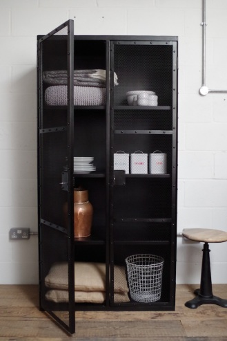 Industrial Mesh Cupboard from Vincent and Barn Ltd