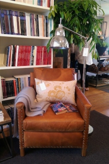The new Caspar armchair in tan leather