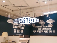 Mattress testing area at Loaf - don't mind if I do...