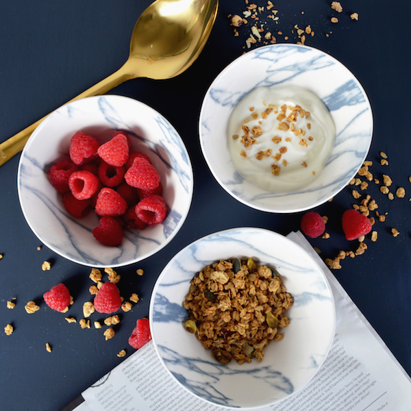 Marbled ceramic cereal bowl from Mia Fleur