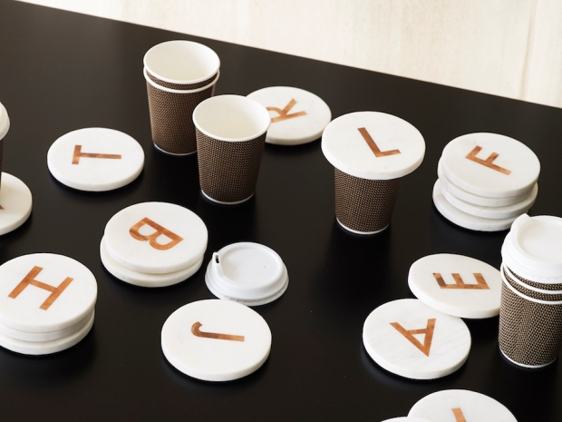 Marble alphabet coasters from Oliver Bonas - due September 2016