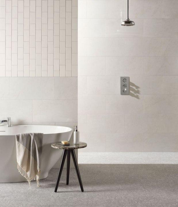 Original Style Tileworks Bianco Pighes porcelain tiles