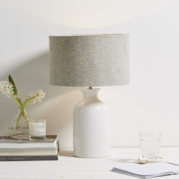 The White Company - Small ceramic bottle lamp