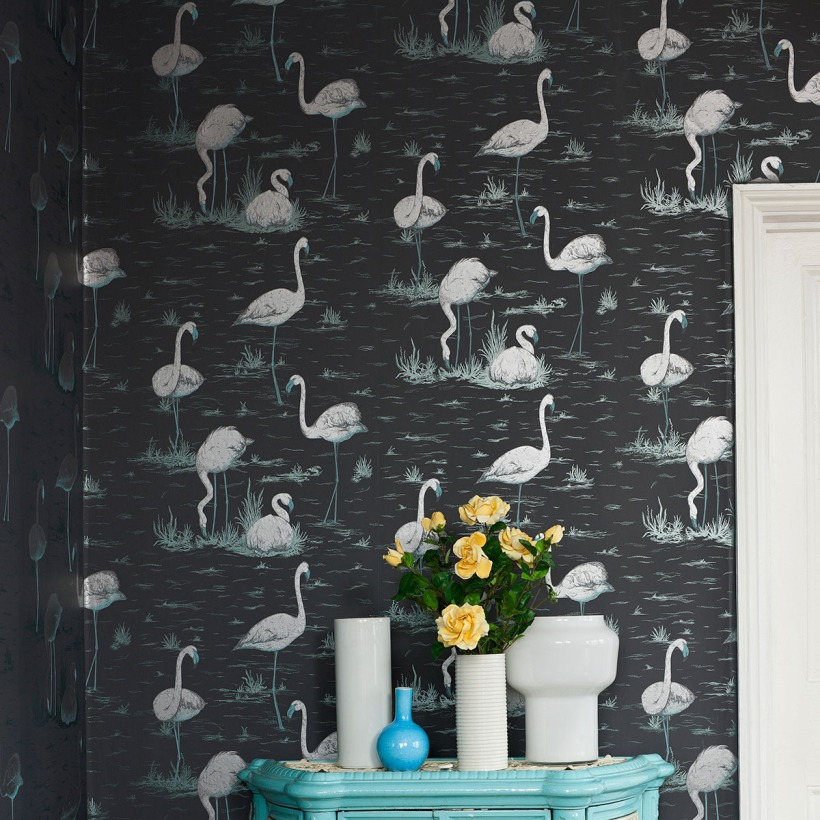 Cole & Son Contemporary Restyled Flamingos wallpaper
