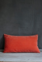 Coral velvet cushion, £25.00 from ALSO Home