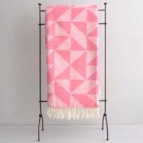 Catesby's Merino Geometric Blanket - Pink £99.00